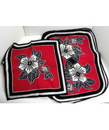 Indonesia Block Print Floral Place Mats Napkins Java Dining Table Lot of 12 - $24.56