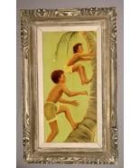 "Vintage Hawaiian Oil on Canvas 24"" x 12"" in Original Frame - $400,000.00"