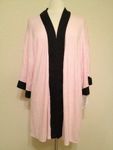 NWD Alfani Women's Modal 1/2 Sleeve Wrap Robe 220112 Posy Pink S/M L/XL - $14.85