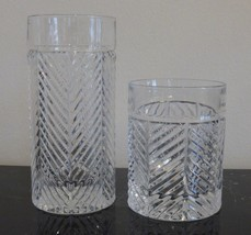 RALPH LAUREN CRYSTAL HERRINGBONE HIGHBALL AND OLD FASHIONED GLASSES - $44.00