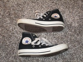 Converse All-Star High Top Shoes, Youth Size 12, Black & White - $14.84