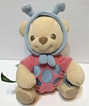 Fisher Price Nature Bearries Blue & Pink Lady Bug Bear Plush Rattle 2003 - $9.56