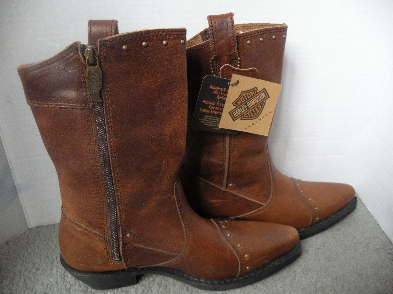 Harley Davidson Leather Boots NWT Womans