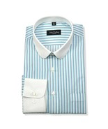 Peaky Blinders Penny collar shirt Mens Blue White stripe Club Round Gran... - $29.65