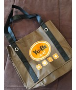 BRAND NEW MAKEUP COSMETIC TOTE, YU-BE BROWN CANVAS GREAT FOR BEACH W/ LOGO - $6.99