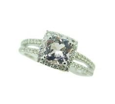 14k White Gold Pink 1 Carat Genuine Natural Morganite and Diamond Ring (... - $995.00