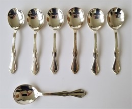 vintage INTERNATIONAL S. Co XI Flatware Silverplate 7pc GUMBO CREAM SPOONS - $38.95