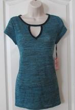 Juicy Couture Cutout Embellished S/S Tee Maui Blue Women's Sz XS NWT MSR... - $20.88