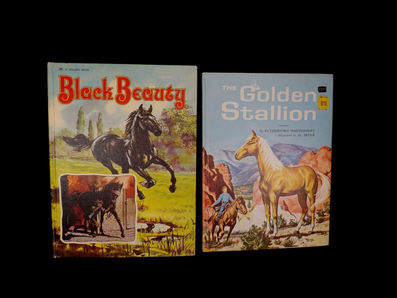 2 Large Vintage Horse Books-1975 Black Beauty & 1962 Golden Stallion 1st Edition