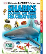 Ultimate Factivity Collection Sharks DK 500 Stickers Create Learn Draw Fun  - $14.85