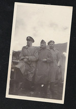 Old Vintage Antique Photograph Three Military Men in Uniforms 1945 - $6.93