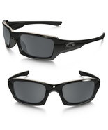 New Oakley Fives Squared Polished Black w/Black Iridium Polarized OO9238-06 - $117.55