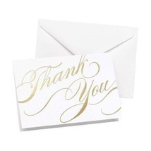Gold Unending Gratitude Thank You Cards Pack of 50 Wedding Thank You Cards - $19.79