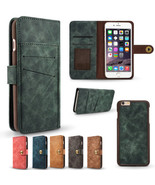 2in1 Magnetic Cover Wallet Leather Card Slot Case for iPhone 5 5S 6 7 6S... - $10.88