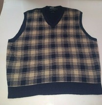 Polo By Ralph Lauren Checkered Sweater Vest Vintage - $49.49