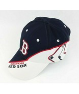 MLB Boston Red Sox Adjustable Baseball Cap Hat Black and White - $14.80
