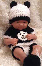 14 Inch Doll clothes.Fits La newborn,Berenguer,Reborn dolls.Panda Bear B... - $15.99