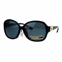 Womens Polarized Lens Sunglasses Horseshoe Rhinestone Design - $13.95