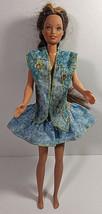 Vintage Barbie Doll Clothing Outfit Mattel Skirt Vest Denim Look Patriot... - $7.99