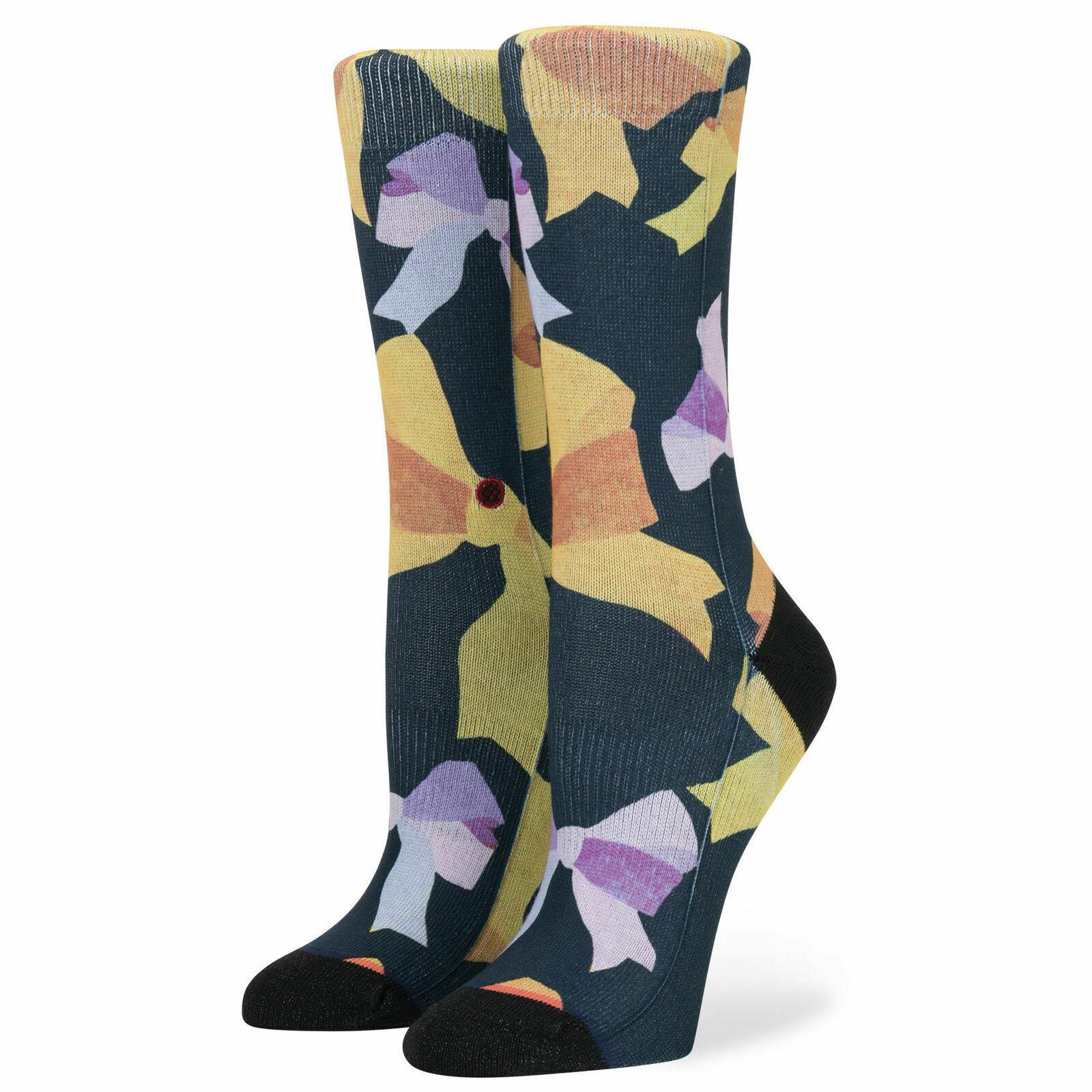 Stance Women's Tomboy Light Cushion Crew Socks Ines Longevial 5-7.5 8-10.5 New