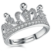 Rapunzel Tangled Ring Disney Princess Rose Gold Plated Tiara Queen Crown Crystal - $7.83