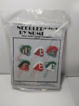 NeedleCraft Ala Mode Set of 6 Xmas Hobby Horse Candy Cane Ornaments Plas... - $21.55