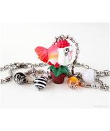 Goldfish Charm Necklace, Anime Jewelry, Japan, Waloli - $21.00