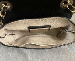 Valentino Black Leather Gold Stud Rockstud Small Glam Lock Crossbody Bag Purse image 7