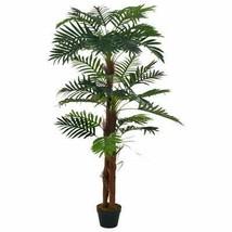 "vidaXL Artificial Plant Palm with Pot Green 65"" Fresh Faux Plant Leaf Decor - $97.99"