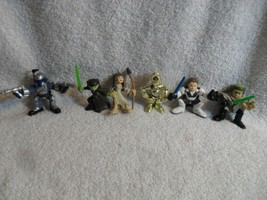 Lot Of 6 - Star Wars GALACTIC HEROES Mini Figures 2001 Hasbro Boba Luke - $29.99