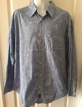 CHAPS Denim Shirt Men's Size XL Long Sleeve Blue Paisley Button Up  - $13.96