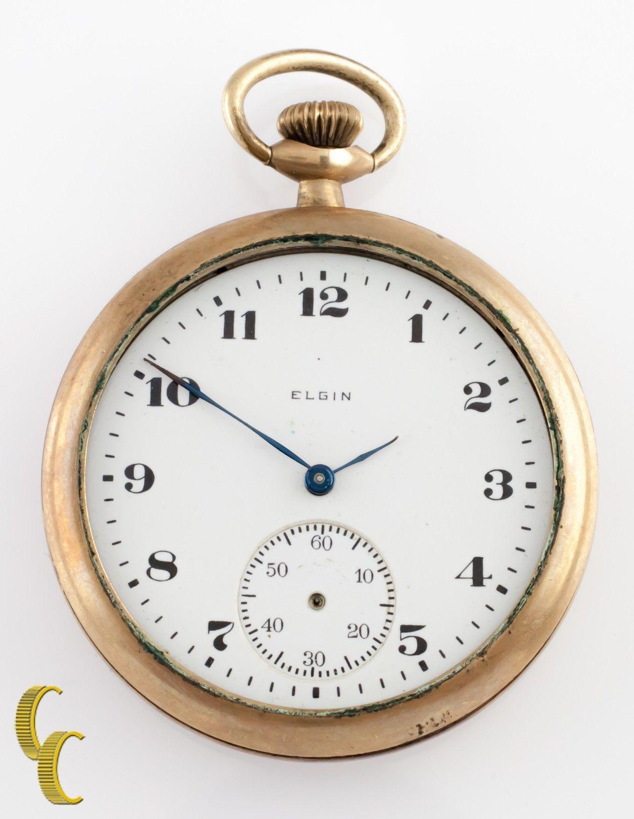 how to open elgin pocket watch