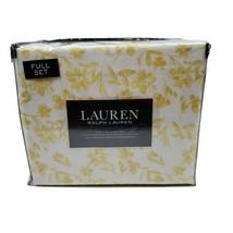 Lauren Ralph Lauren 4 PC FULL Sheet Set Whimsical Flowers White Yellow - $79.95