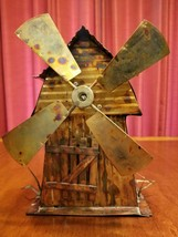 Windmill Music Box Handmade  Vintage Copper Art - $48.00