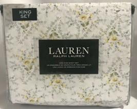 Ralph Lauren 100% Cotton 4pc Yellow/Green /white/blue floral Sheet Set -... - $98.99