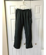 Vintage Nike Fitness Exercise Pants Warmup Sz M Medium Spell out Inner Band - $23.51