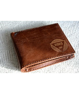 Personalized Men's Wallet Leather Custom Engraved - $59.00