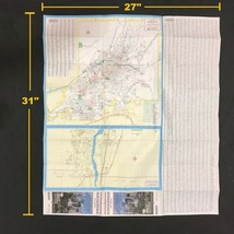 AAA Street Map Albuquerque New Mexico Sta Fe South Valley Vintage 1990 1993 - $27.27