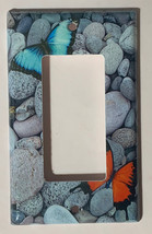 Butterflies Blue Orange river rock Switch Outlet wall Cover Plate home decor image 2