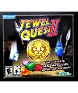Jewel Quest II - Jewel Case (PC, 2010) New Computer Puzzle Game - $5.71