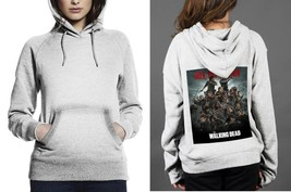 Classic Hoodie White women Walking Dead All Out War - $28.99