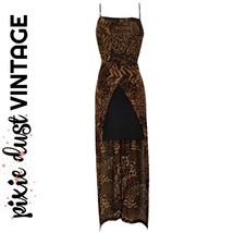 Vintage Dress Y2K Leopard Minidress Mini Animal Print Layered 90s 00s Si... - $48.63