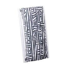 Set of 10 Black and White Stripe Disposable Mask for Adult, 17.5x9.5 cm