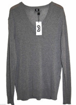 Dolce & Gabbana Gray Men's V-Neck Thin Sweater Size US 44 EU 54 NEW Reta... - $169.28