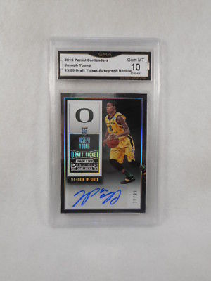 2015 Panini Contenders 121 Joseph Young Draft Auto Rookie GMA Graded Gem 10
