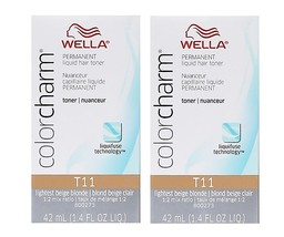 Wella-T11 Lightest Beige Blonde Permanent Hair Colour - pack of 2 - $27.95