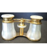 1878 French Lemaire Mother of Pearl Opera Glasses With Original Leather ... - $94.99