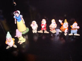 Disney  Snow White  and the 7 Dwarfs set of 8 PVC Figurines - $49.99