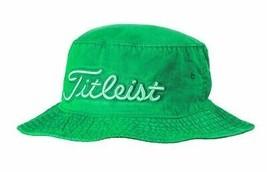 NEW! S/M Titleist Pigment Dyed Bucket Hat-(Small/Medium, Green) - $64.23