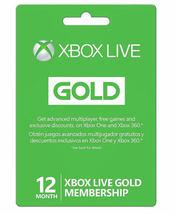 Microsoft Xbox Live 12 Month Gold Membership-See Description - $53.99